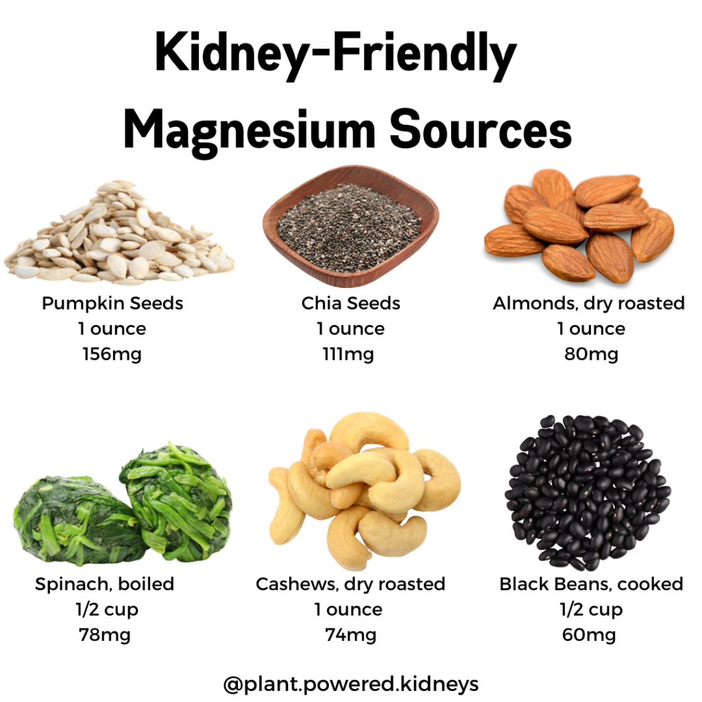 Need more or less magnesium for your kidneys? Knowing the sources of magnesium can be a huge help!