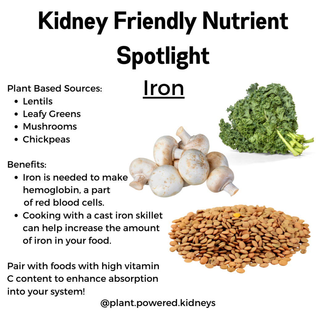 Looking to boost iron levels? Try these kidney friendly techniques!