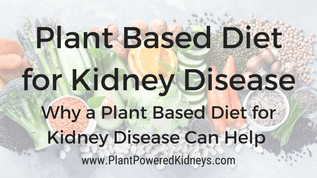 Why a plant based diet is recommended for kidney disease