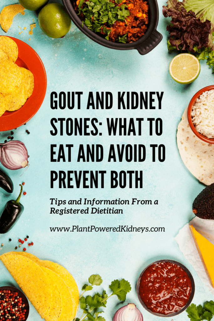 Gout and Kidney Stones: What to Eat and Avoid to Prevent Both (image is a tablescape with tortillas, chips, peppers, onions, limes and salsa)