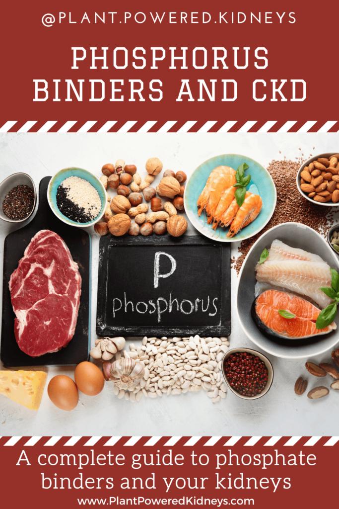 Phosphorus binders and kidney disease