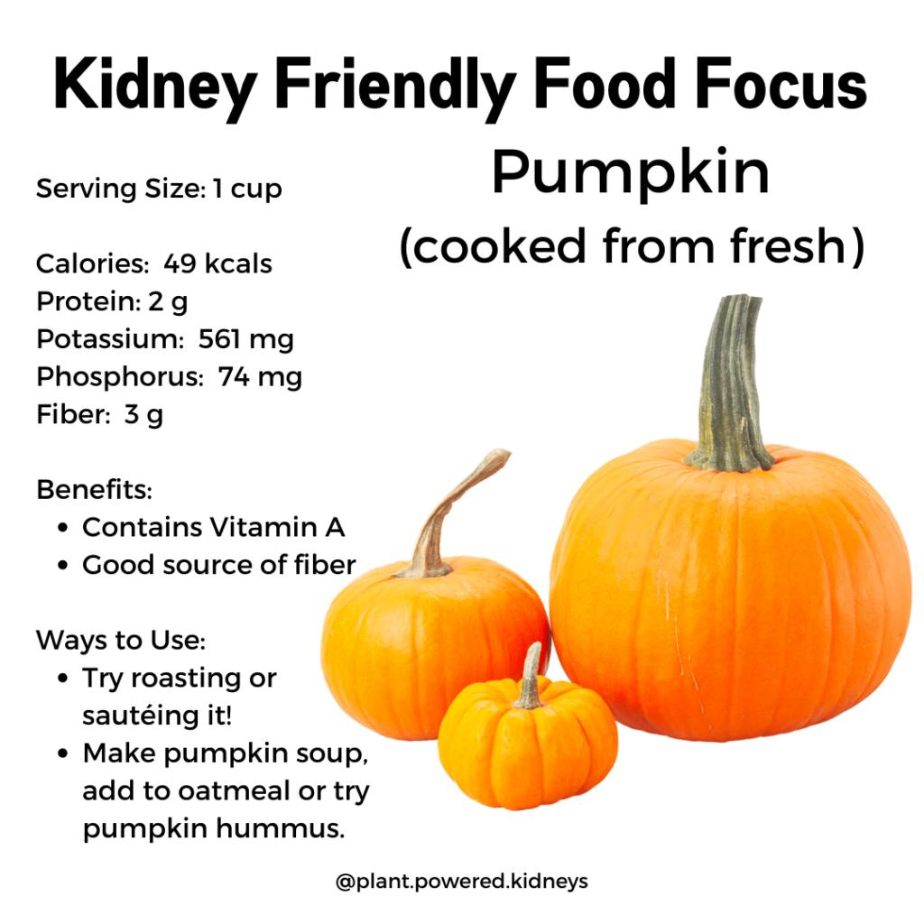 Nutrition Information for Pumpk