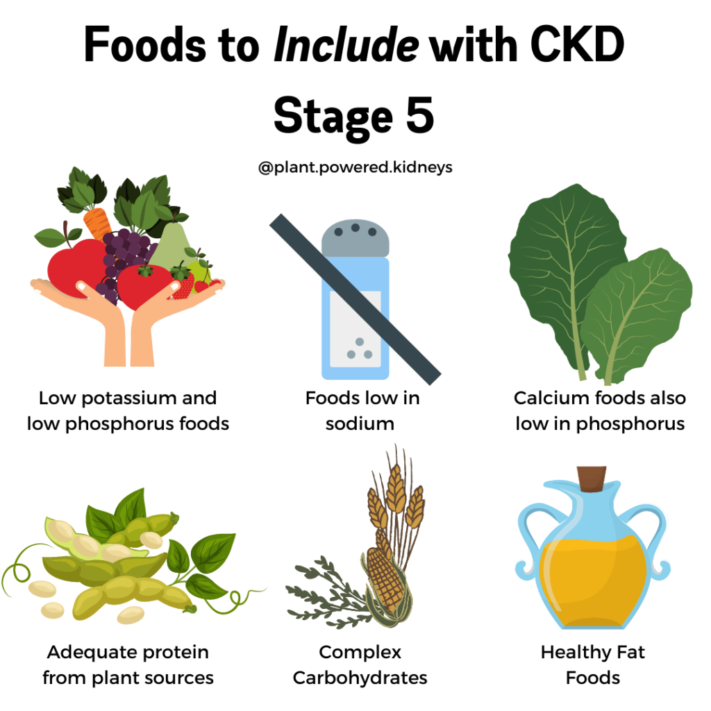 Foods to include with CKD stage 5